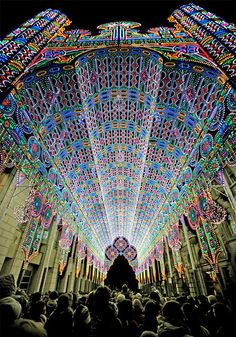 The LED Cathedral, Belgium.