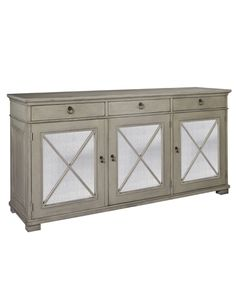 Hickory Chair Deauville Sideboard in Modern French Gray