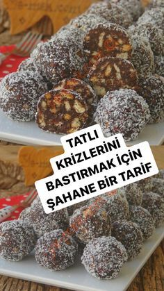 Learn Turkish, Turkish Delight, Turkish Recipes, Bite Size, Food And Drink, Sweets, Cooking, Breakfast, Cake