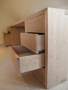 Bespoke Oak Desk - Wood Works Brighton