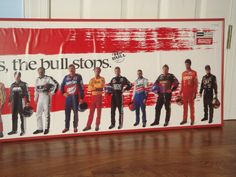 The Winston Nascar Poster Racing 1997 Earnhardt Waltrip Petty and others Framed