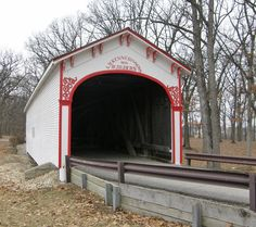 Covered Bridge in Lake County, Indiana - Travel Photos by Galen R Frysinger, Sheboygan, Wisconsin