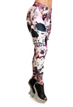 Legging Skull Flower Sport Outfit, Flower Skull, Gym Outfits, Active Wear For Women, Jeggings, Fitness Fashion, Fitness Inspiration, Crossfit, Change