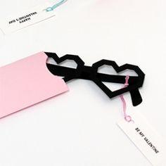 Heart Glasses Valentine Cards