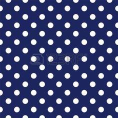 patrón transparente con lunares blancos sobre un fondo marino de color azul marino Vectores