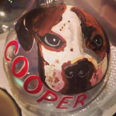 Personalized dog ornament #robynseggblue