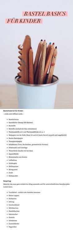 Bastelmaterial: Basics und Upcycling für Kinder