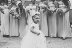 Flower girl, bride and bridesmaids  Photo by Two Foxes Photography