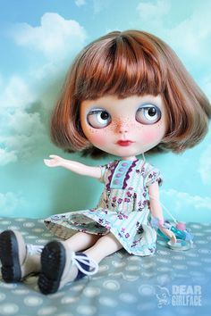 "OOAK Custom Blythe Art Doll ""Starling"" by Dear Girlface Dolls"
