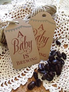 A Baby is Brewing Favor Tag Large Coffee Tea by thepaperstash