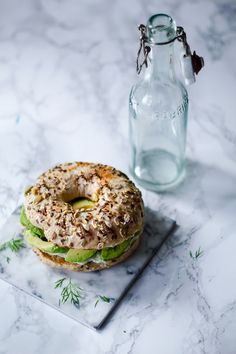 Wholegrain bagels - would be a perfect item in the lunchbox (in danish)
