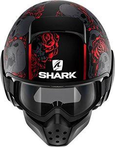 Shark Raw Drak Sanctus Matt Black Red 7