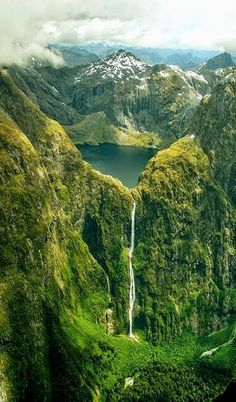 "Sutherland Falls and Lake Quill ~ New Zealand ~ Miks' Pics ""Nature Scenes lV"" board @ http://www.pinterest.com/msmgish/nature- scenes-lv/"