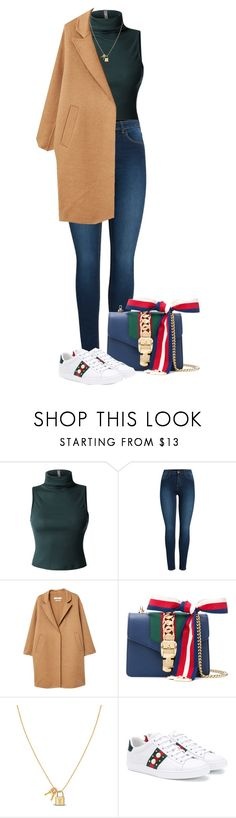 """Untitled #1086"" by julianne28 on Polyvore featuring LE3NO, Pieces, MANGO and Gucci"