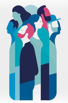 E metafisica picame vector illustration in 2019 illustration, graphic desig Art And Illustration, Flat Design Illustration, Illustrations And Posters, People Illustrations, Design Illustrations, Eduardo E Monica, Mode Poster, Design Poster, Art Graphique