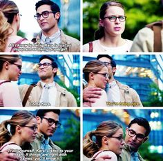 """I've been where you are. You know trying to figure out how to be Clark and Superman."" #Supergirl #Season2 #2x01"