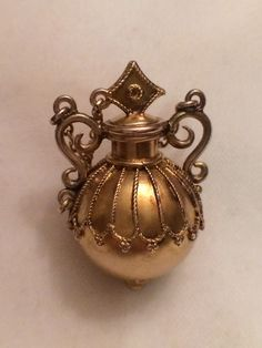 1880'S Exquisite Antique 14K Gold Perfume Scent Bottle RAR