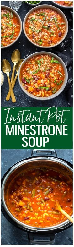 ThisSuper Easy Instant Pot Minestrone Soup is a quick and easy spin on the classic tomato-based soup that comes together in less than 20 minutes!