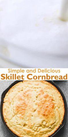 Cornmeal Cornbread, Southern Cornbread Recipe, Jiffy Cornbread Recipes, Cornmeal Recipes, Cornbread With Corn, Homemade Cornbread, Corn Recipes, Fall Recipes, Baking Recipes