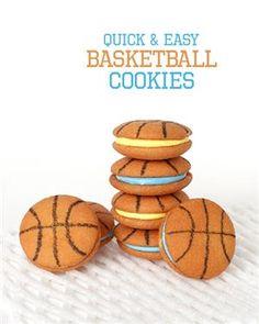 Easy Basketball Cookies