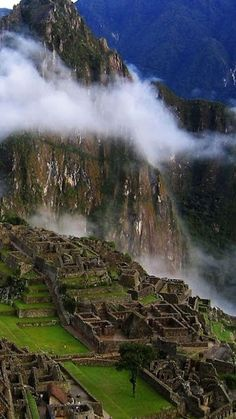 Machu Picchu, the world famous Inca ruins in the mountains of Cuzco, Peru