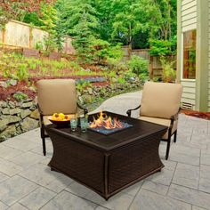 American Fire Products Santa Cruz Chat Height Square Concrete Top Gas Fire Pit - AFP-CRUZ-SQGFRC-42