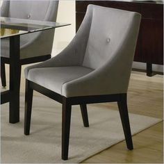 Coaster Alvarado Upholstered Dining Side Chair in Cappuccino Finish - 102232 - On sale $142.99 each through May 21.  Really like these from Cymax.