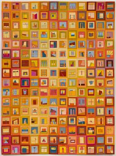 "erin wilson quilts | Color Story: Cabinet, 36"" x 48"", 2013"