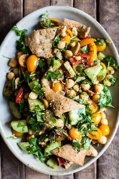 Falafel Fattoush Salad | The Full Helping