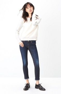 rag & bone/JEAN Pullover & Jeans Outfit with Accessories available at #Nordstrom