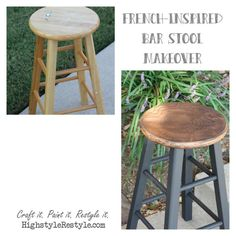 How to give bar stools a French-inspired makeover with stencils by Highstyle Restyle. http://www.highstylerestyle.com/blog/french-inspired-bar-stool-makeover