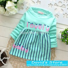 Cheap dress skeleton, Buy Quality dress up plain dress directly from China dress sky Suppliers: New 2014 Beautiful & Warm Winter Dresses for Kids, 4 Colors Fashion Letters & Stripe Infant Baby Princess Dress