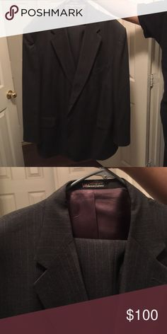 Stafford made in USA men's suit Charcoal grey men's suit. Pant and blazer. Suits & Blazers Sport Coats & Blazers