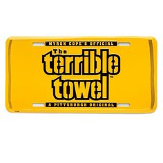 Picture of Pittsburgh Steelers Terrible Towel License Plate Steelers Football, Pittsburgh Steelers, Steelers Terrible Towel, Steeler Nation, Steel Wheels, Nfl, Plates, Decorations, Cars