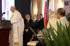 Speech of Pope Francis at Malacañang following his courtesy call on President Aquino on Friday, Jan. 16.