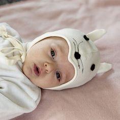 #Cuffietta per #neonati e #bambini in #cotone #biologico - topolino