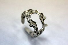 Sterling Silver  Victorian Keyhole Adjustable Ring Escutcheon - Gwen Delicious Jewelry Design. $59.00, via Etsy.