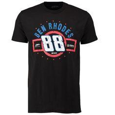 Ben Rhodes Checkered Flag Name & Number Short Sleeve T-Shirt - Black - $15.99