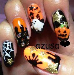 DIY halloween nails: DIY Halloween nail art : halloween nail
