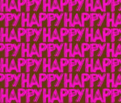 Happy Chocolate by smuk, click to purchase fabric