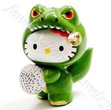 Hello Kitty Swarovski Elements Crystal Japan Limited Dinosaur Baby Pendant Charm