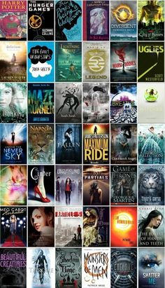 YA books are the best. I have literally read all of these books except one.