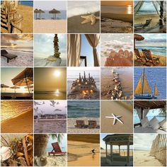 Things I love -- beach fantasy in beige and brown by LHDumes, via Flickr... love the groupings she does