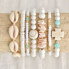 beachy mermaid bracelets shells boho style sea gypsy bohemian jewelry driftwood handmade beachcomber by beachcombershop on Etsy