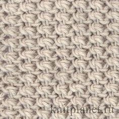 Планета Вязания   Узор мелкой вязки спицами и схема вязания узора