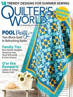 Shopping Catalogues, Patriotic Quilts, Make A Gift, Fabric Scraps, How To Introduce Yourself, Quilt Blocks, Magazine, Sewing, Manualidades