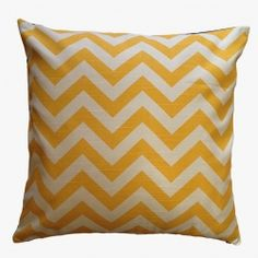 Sunny Yellow and White Chevron Cushion Cover | The Block Shop - Channel 9