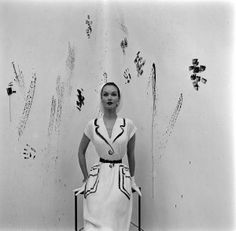 LIFE Magazine 1952 - Photo Gordon Parks  Model wearing an Hermes dress