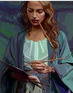 Feyre painting in Velaris. (Not my pic)