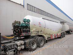 the front side of bulk powder tanker carrier
